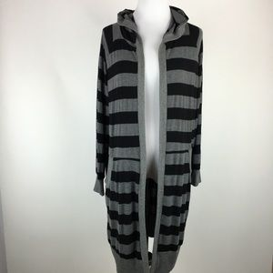 Silence + Noise long hooded cardigan Sz Medium